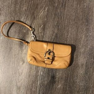 Authentic Coach Wristlet with Buckle